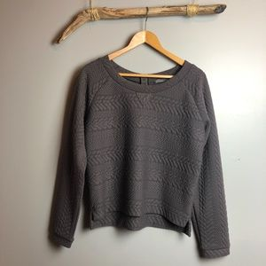 Prana Quilted Dimension Crop Top in Muted Truffle